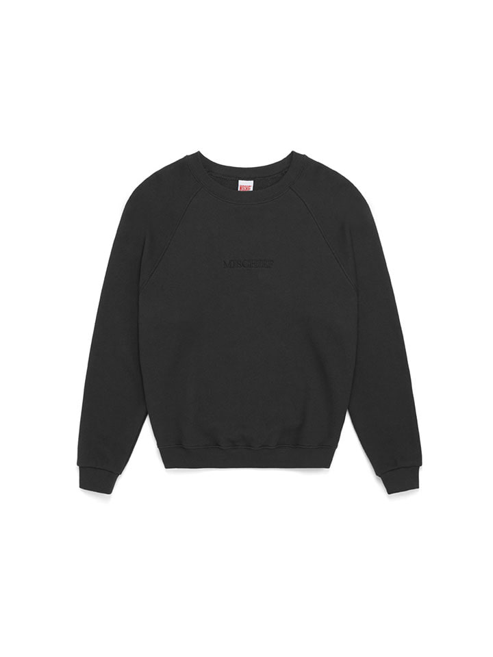 RAGLAN CREWNECK SWEATER_faded black
