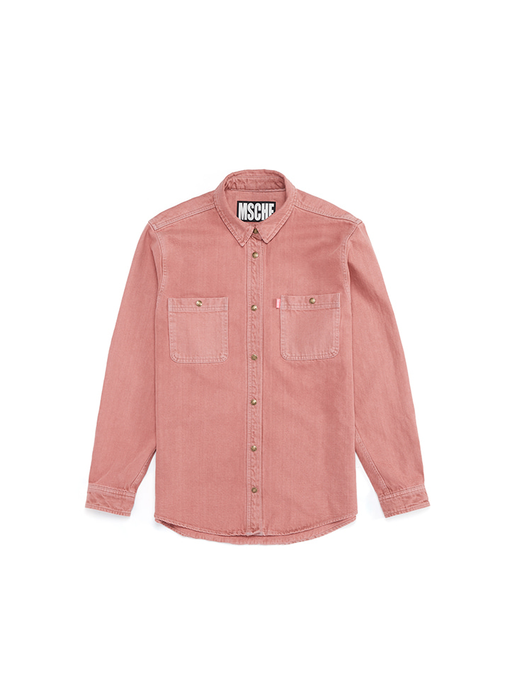DENIM SHIRTS_indian pink
