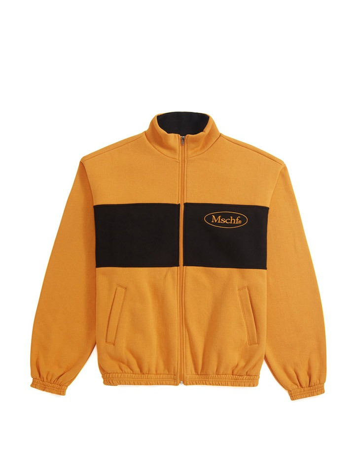 OVAL ZIP UP_yellow/black