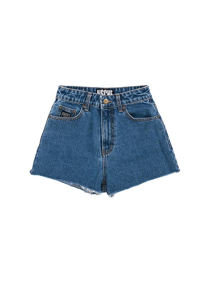 STITCH DENIM SHORTS_blue