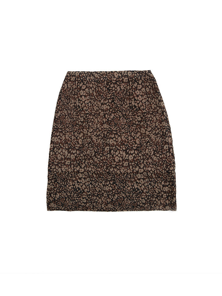 CHIFFON DOUBLE LAYERED SKIRT_leopard