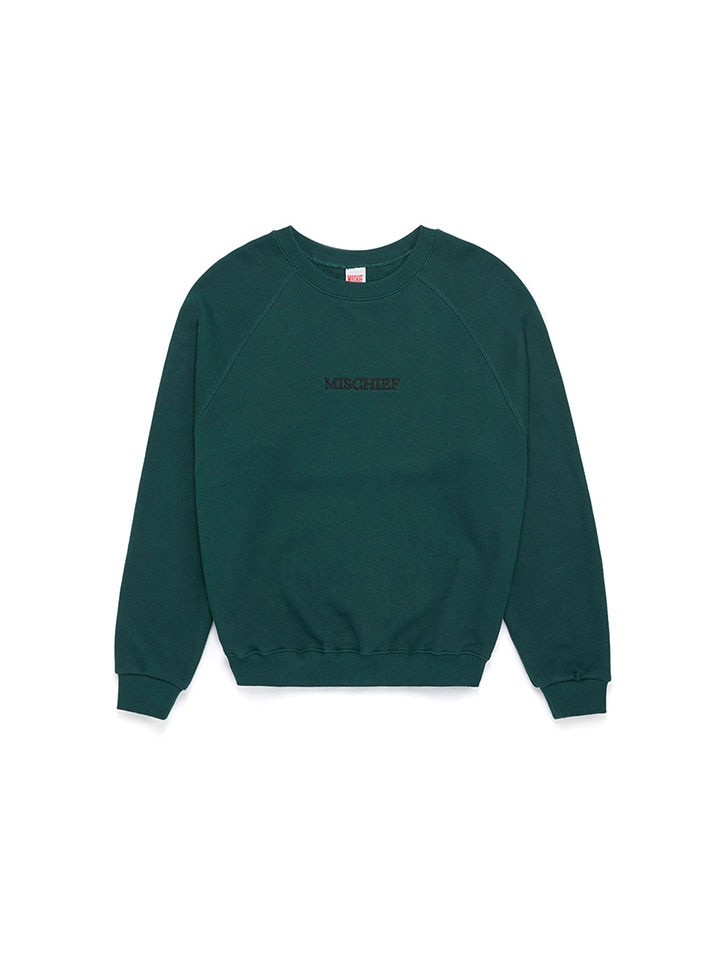 RAGLAN CREWNECK SWEATER_green