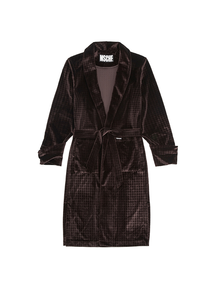 VELVET ROBE_brown
