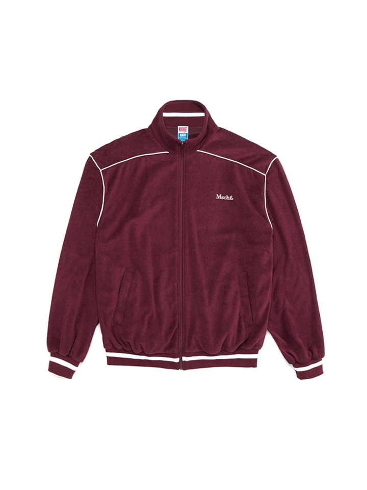 TERRY TRACK JACKET_burgundy