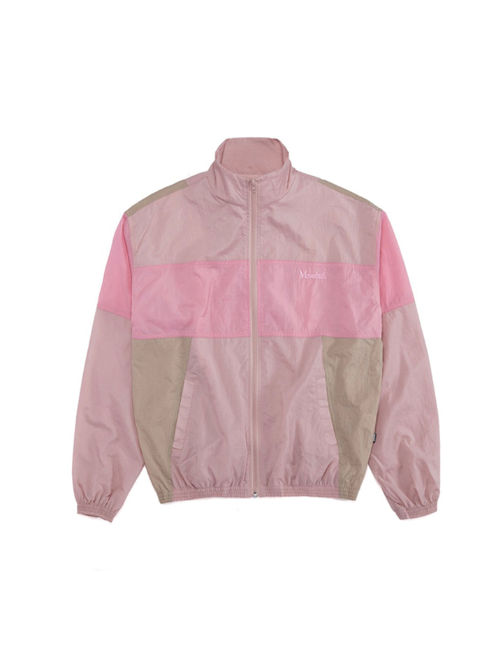 COLOR BLOCK WINDBREAKER_pink