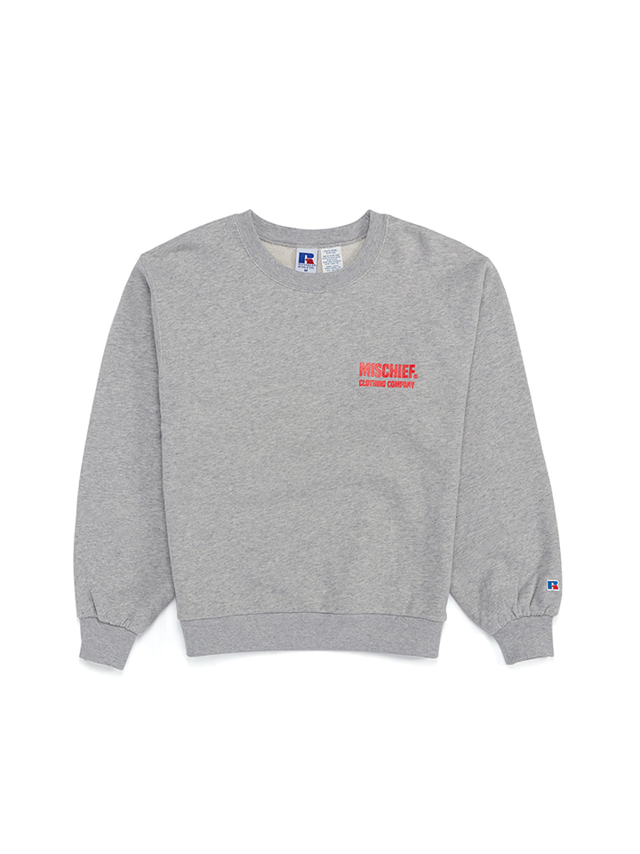 BALLOON SLEEVE CREWNECK_gray