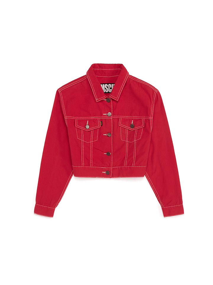 STITCH TRUCKER JACKET_red