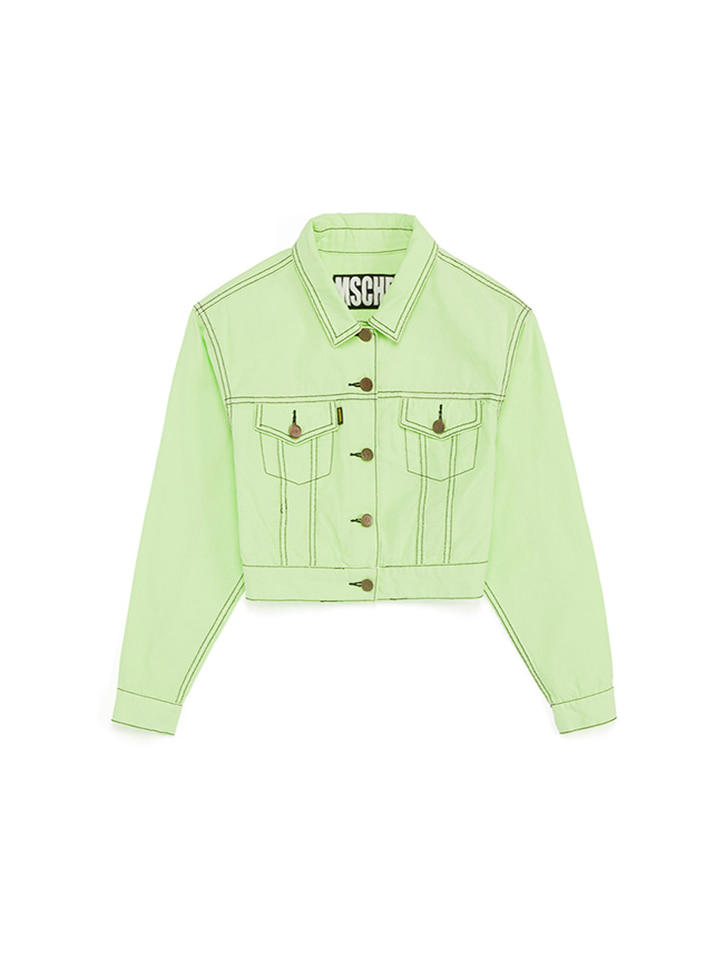 STITCH TRUCKER JACKET_lime