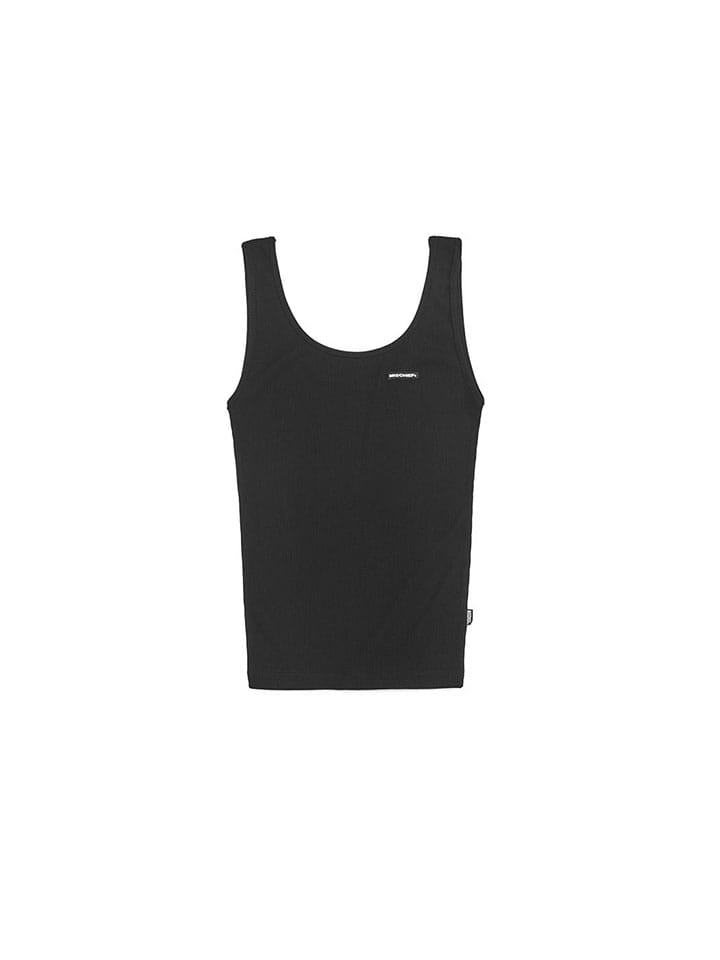 FITTED SLEEVELESS_black