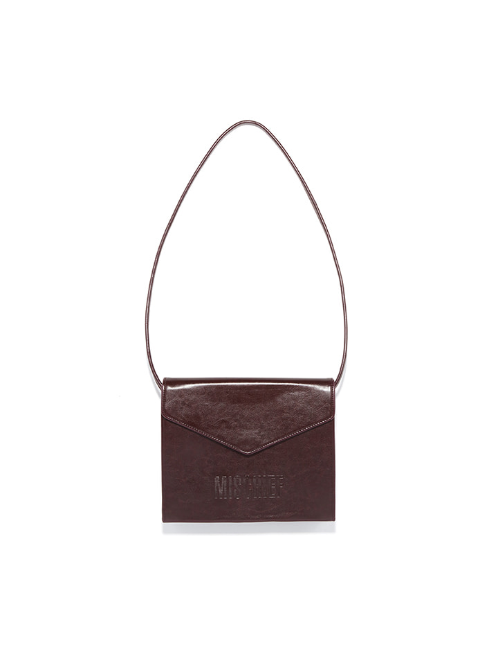 ENVELOPE CROSS BAG_brown
