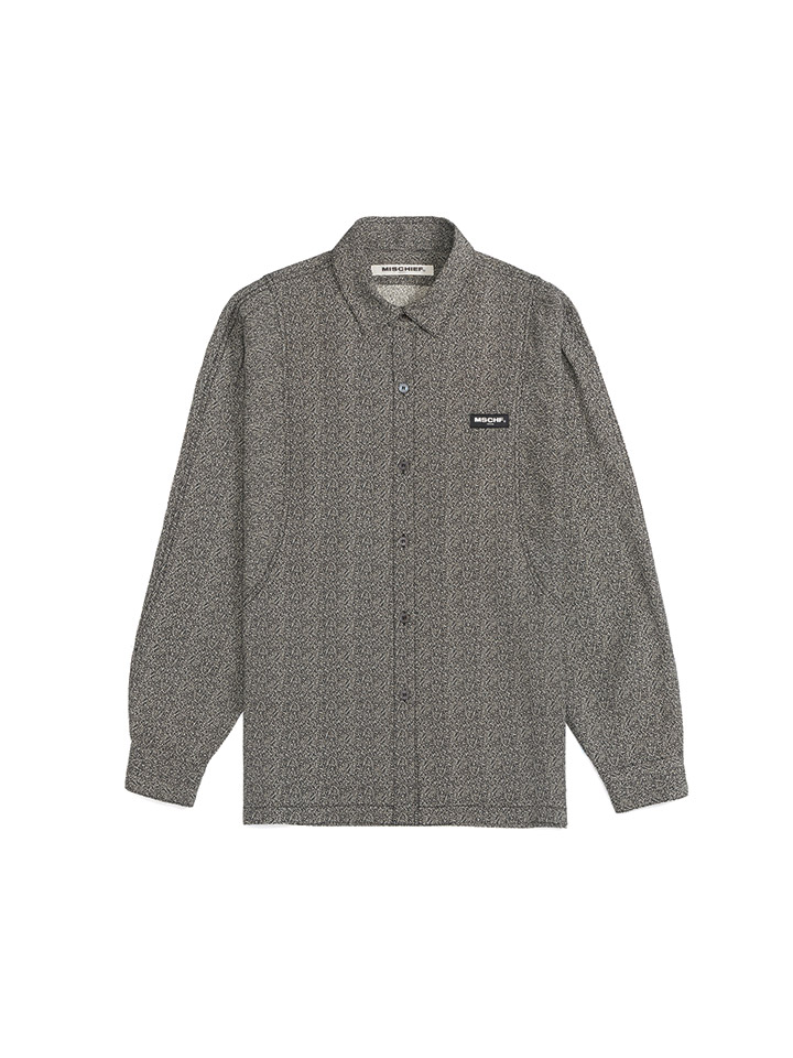 CREPE DOLMAN SHIRT_speckled
