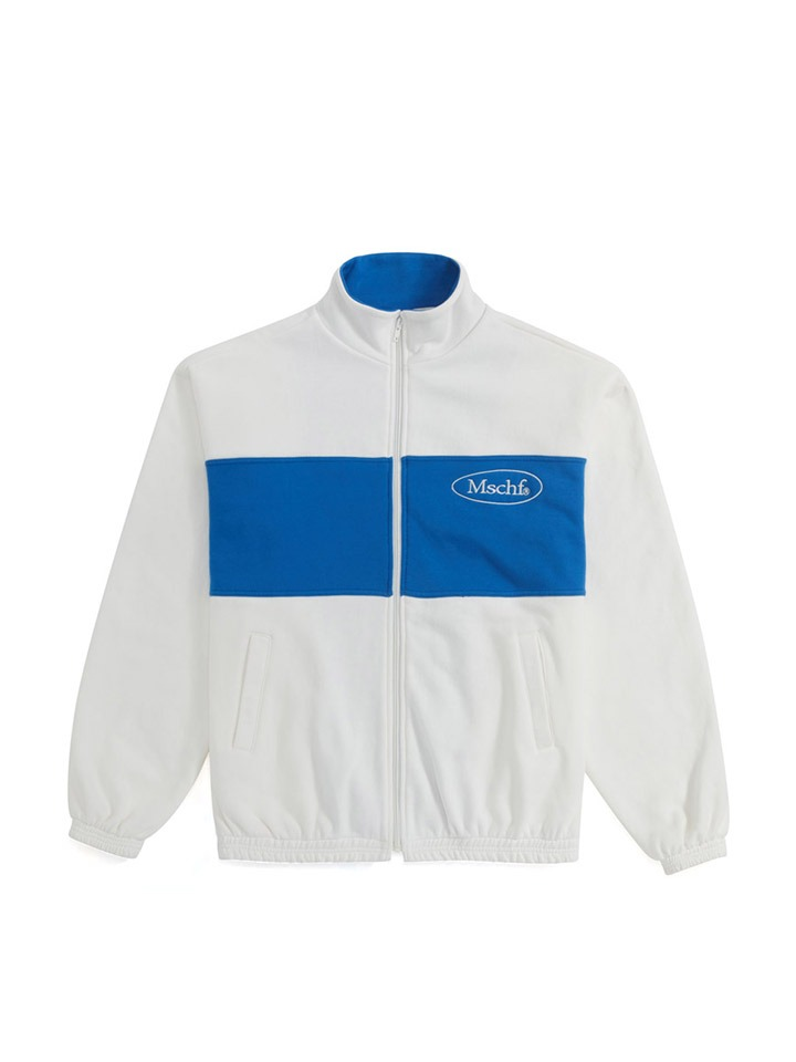 OVAL ZIP UP_white/blue