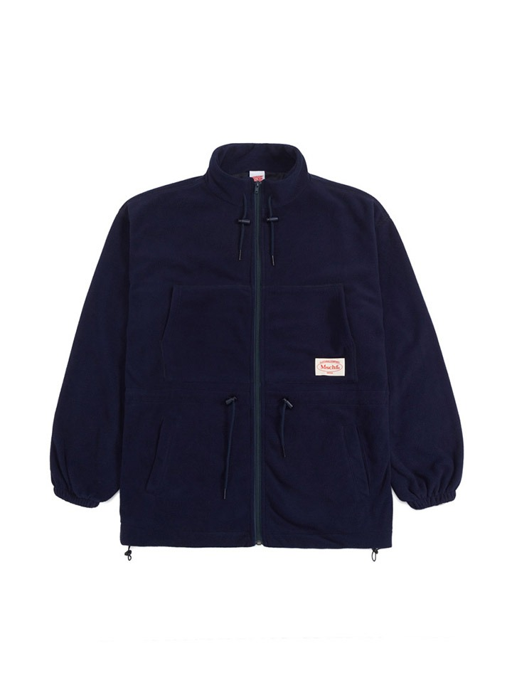 FLEECE TRACK JACKET_navy
