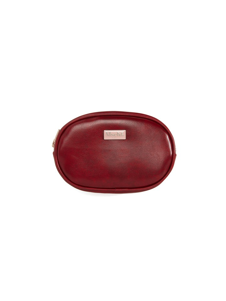 FAUX LEATHER POUCH_red