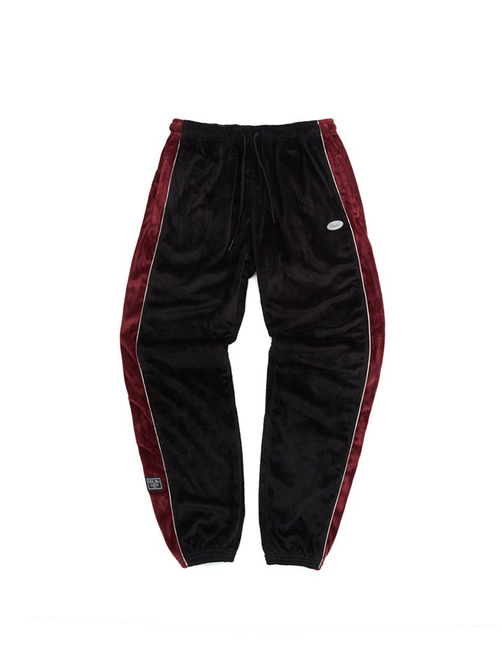 VELBOA TRACK PANTS_black/burgundy