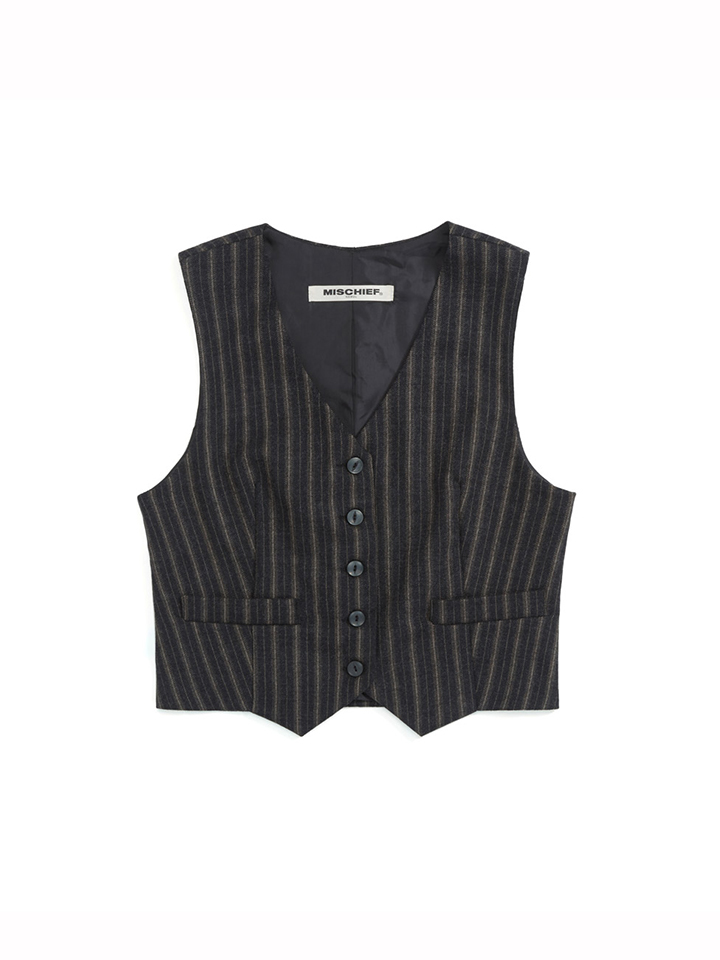 ZOOTIES WOOL VEST_dark brown