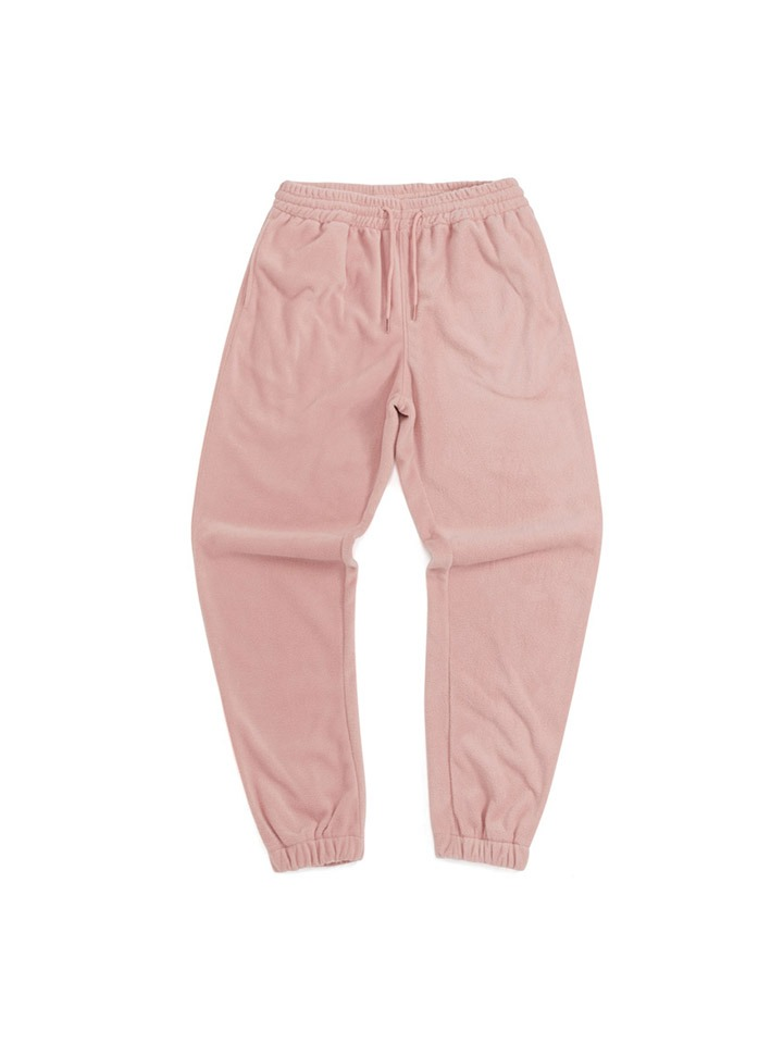 FLEECE TRACK PANTS_pink