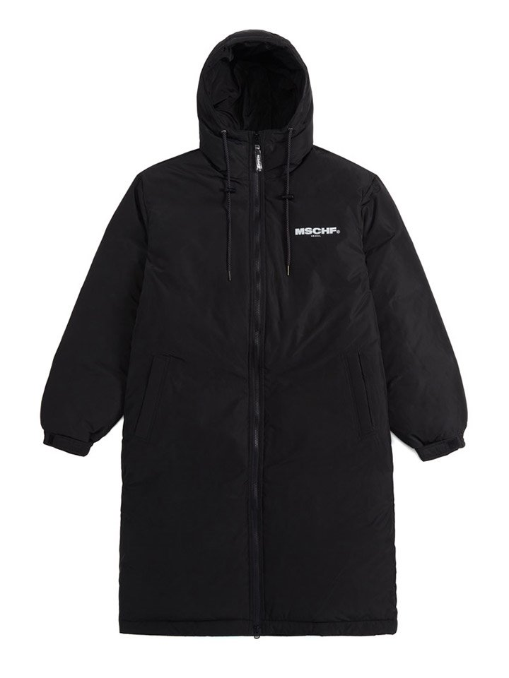 ZIP UP LONG DOWN PARKA_black