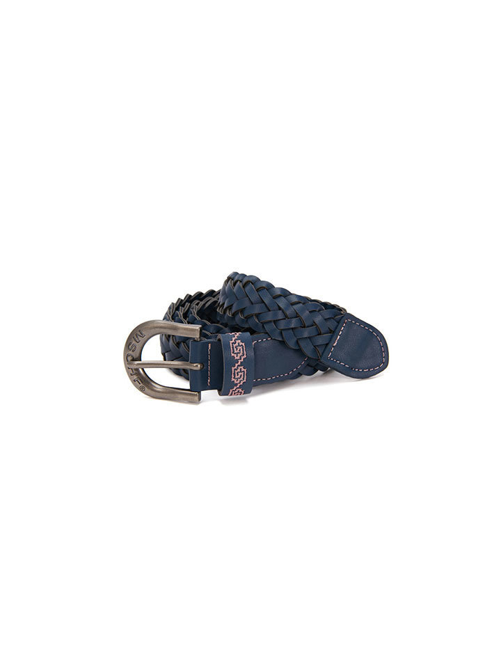WEAVED STITCH BELT_navy