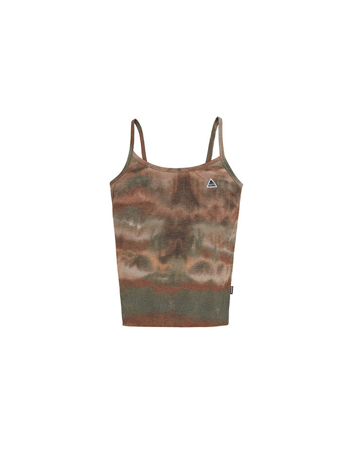 TIE-DYED CAMISOLE_brown/green