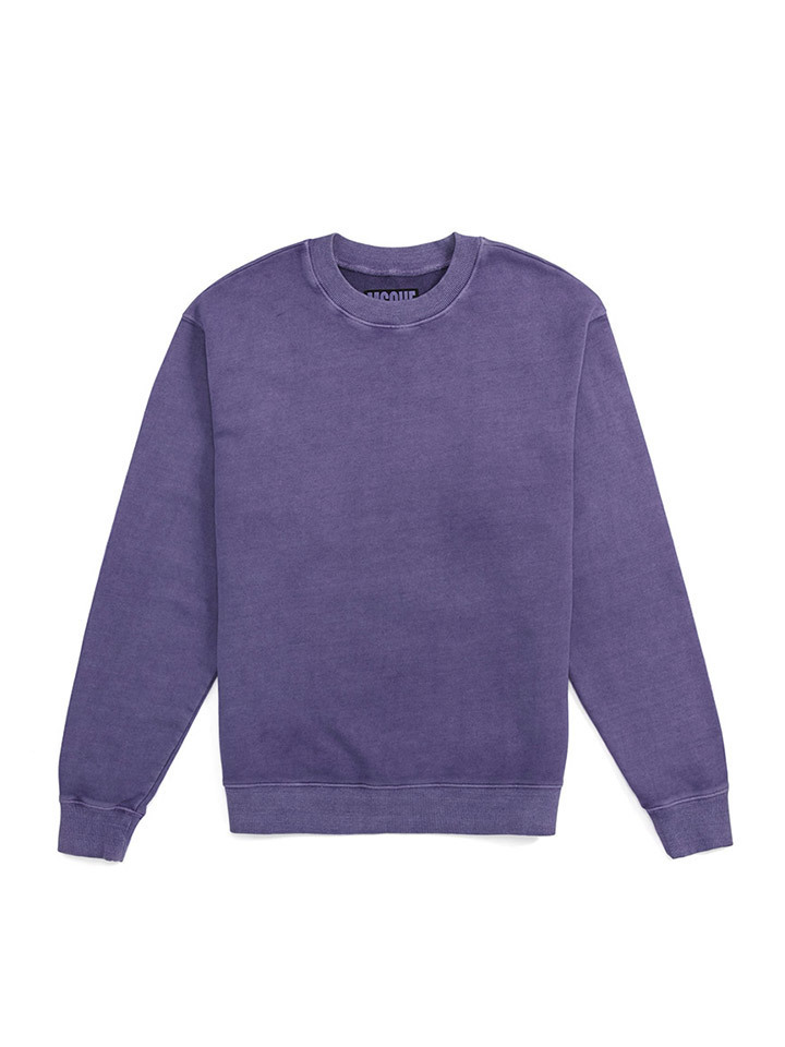 GARMENT DYED CREWNECK_purple