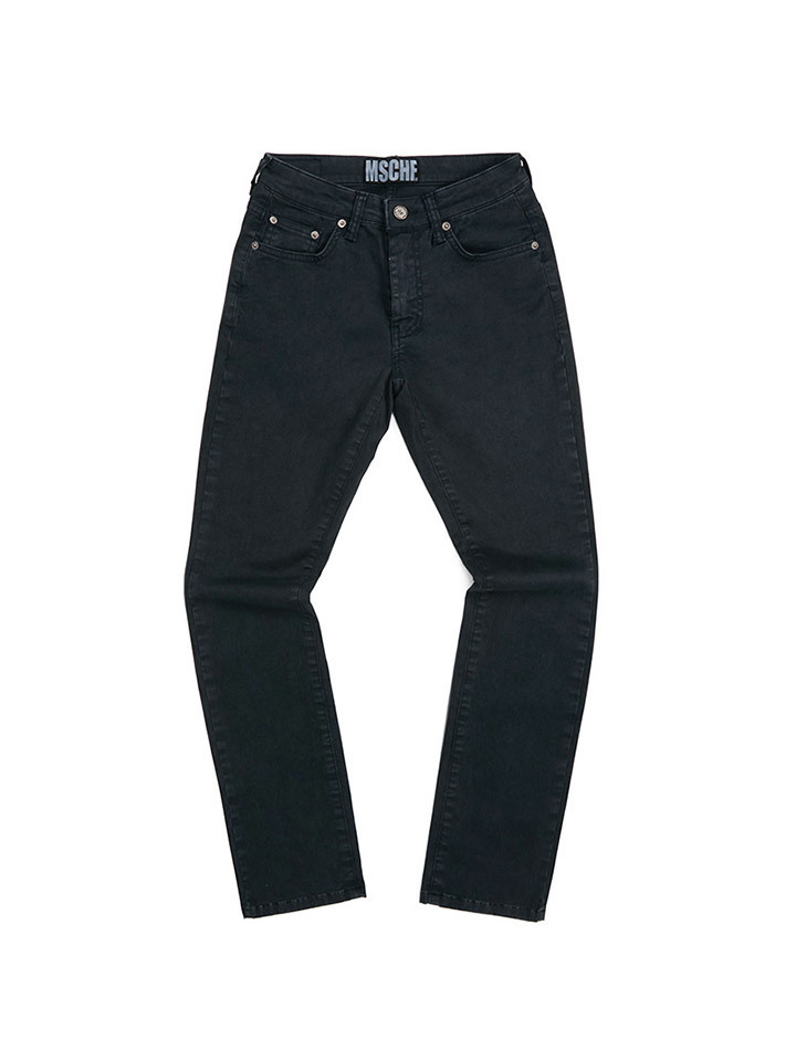 HIGH WAISTED BOOT CUT PANTS_black