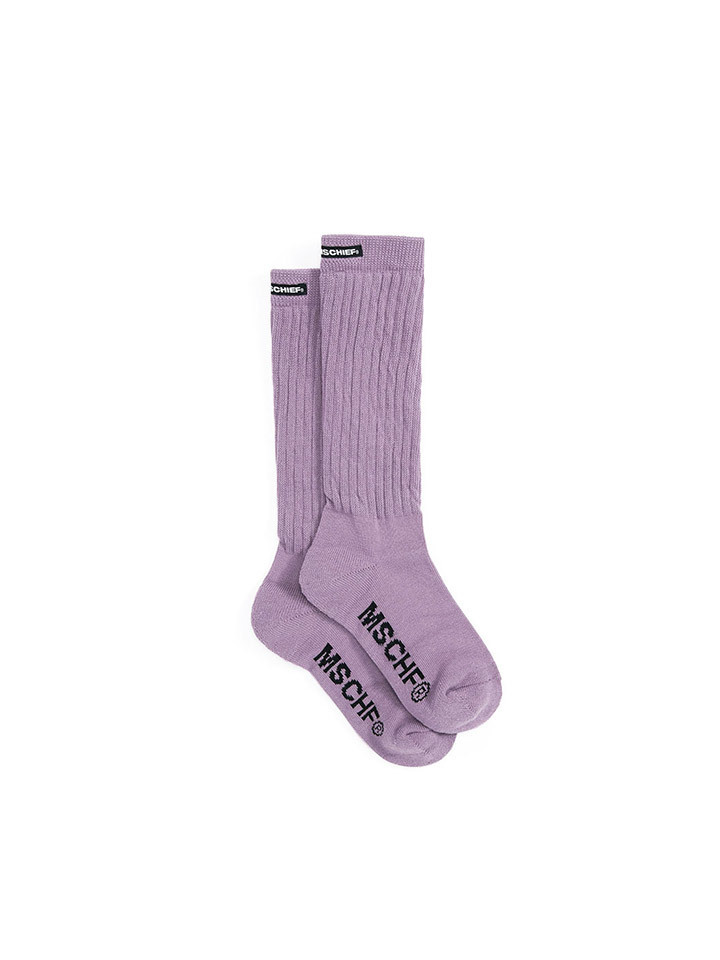 MIDDLE TUBE SOCKS_lavender