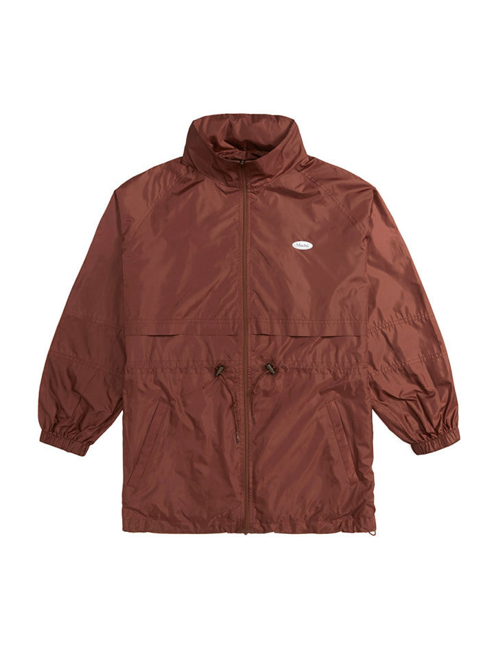 LIGHTWEIGHT WINDBREAKER_brick red