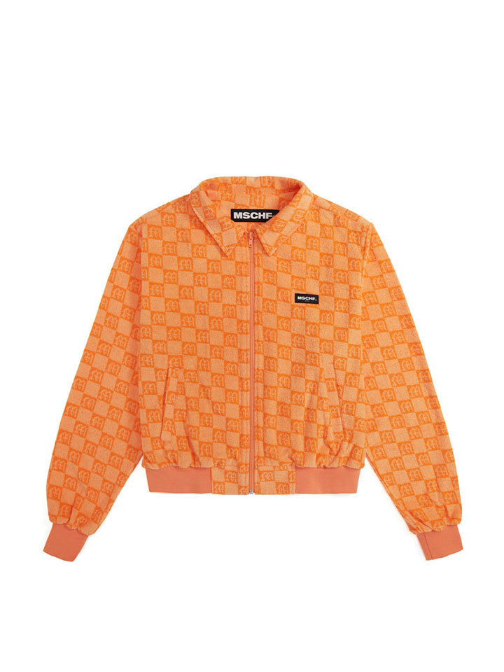 JACQUARD TERRY JUMPER_orange