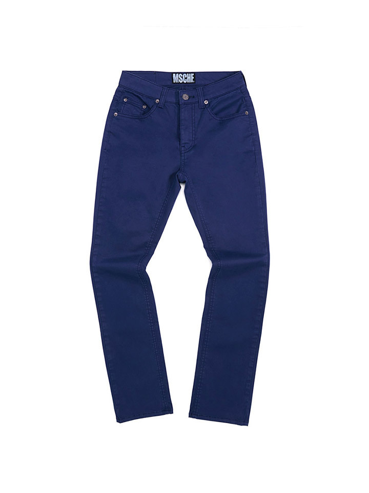 HIGH WAISTED BOOT CUT PANTS_navy