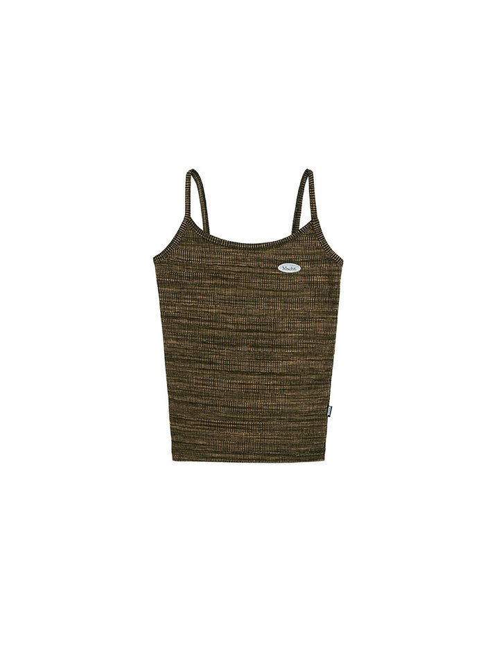 SPACE DYED KNIT TANK_space dyed caramel