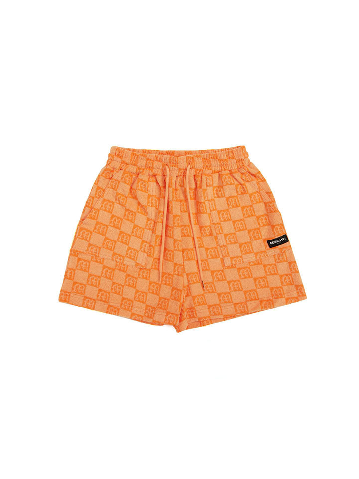 JACQUARD TERRY SHORTS_orange