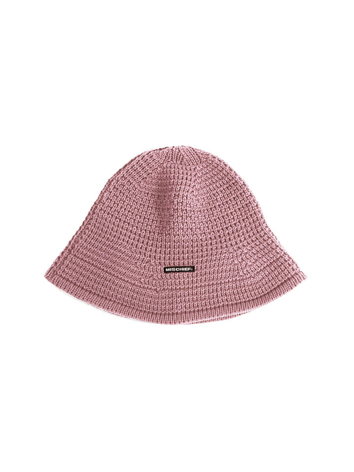 KNIT BUCKET HAT_pink