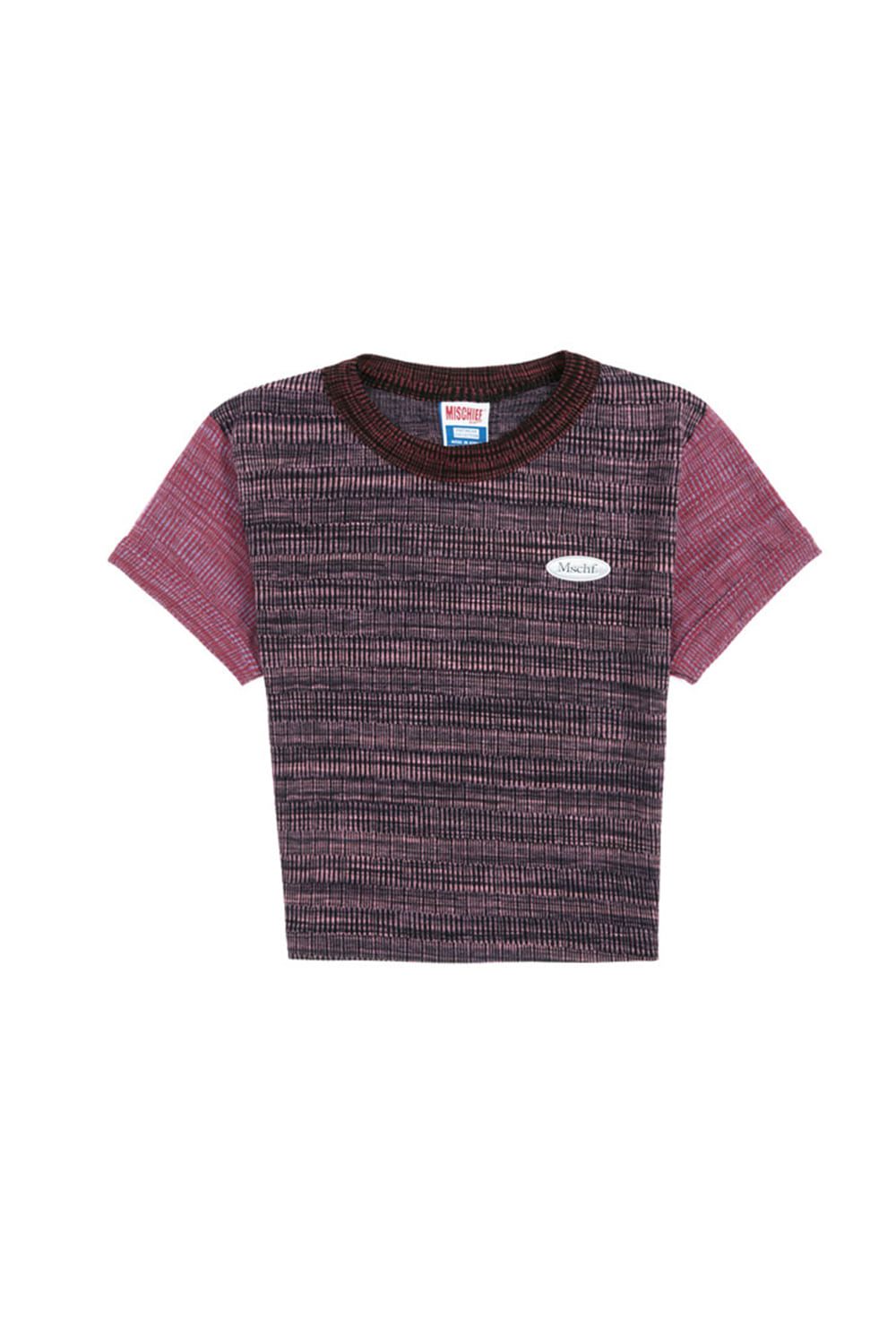 SPACE DYED COLOR BLOCK TOP_space dyed pinks