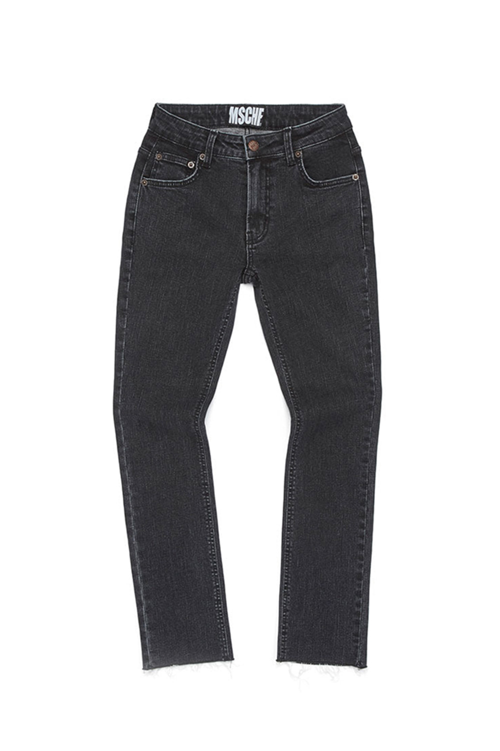 CROPPED DENIM SKINNY_black
