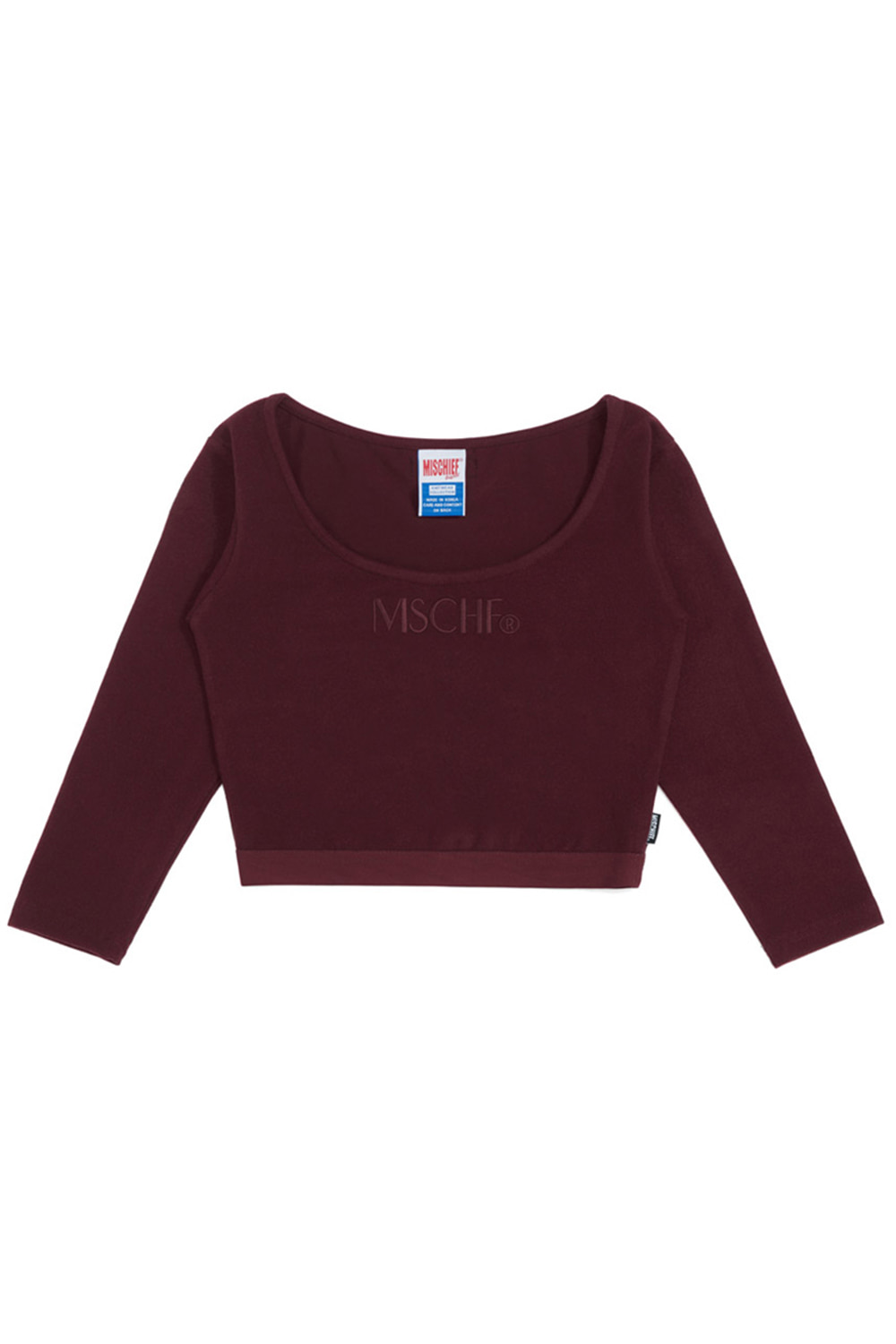 FITTED WAISTBAND_burgundy