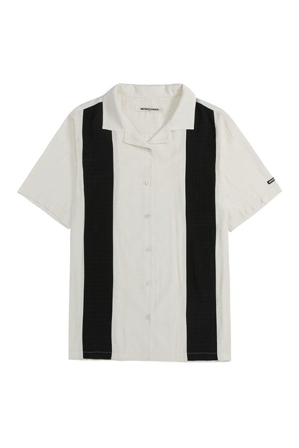 ARGYLE BOWLING SHIRT_white/black