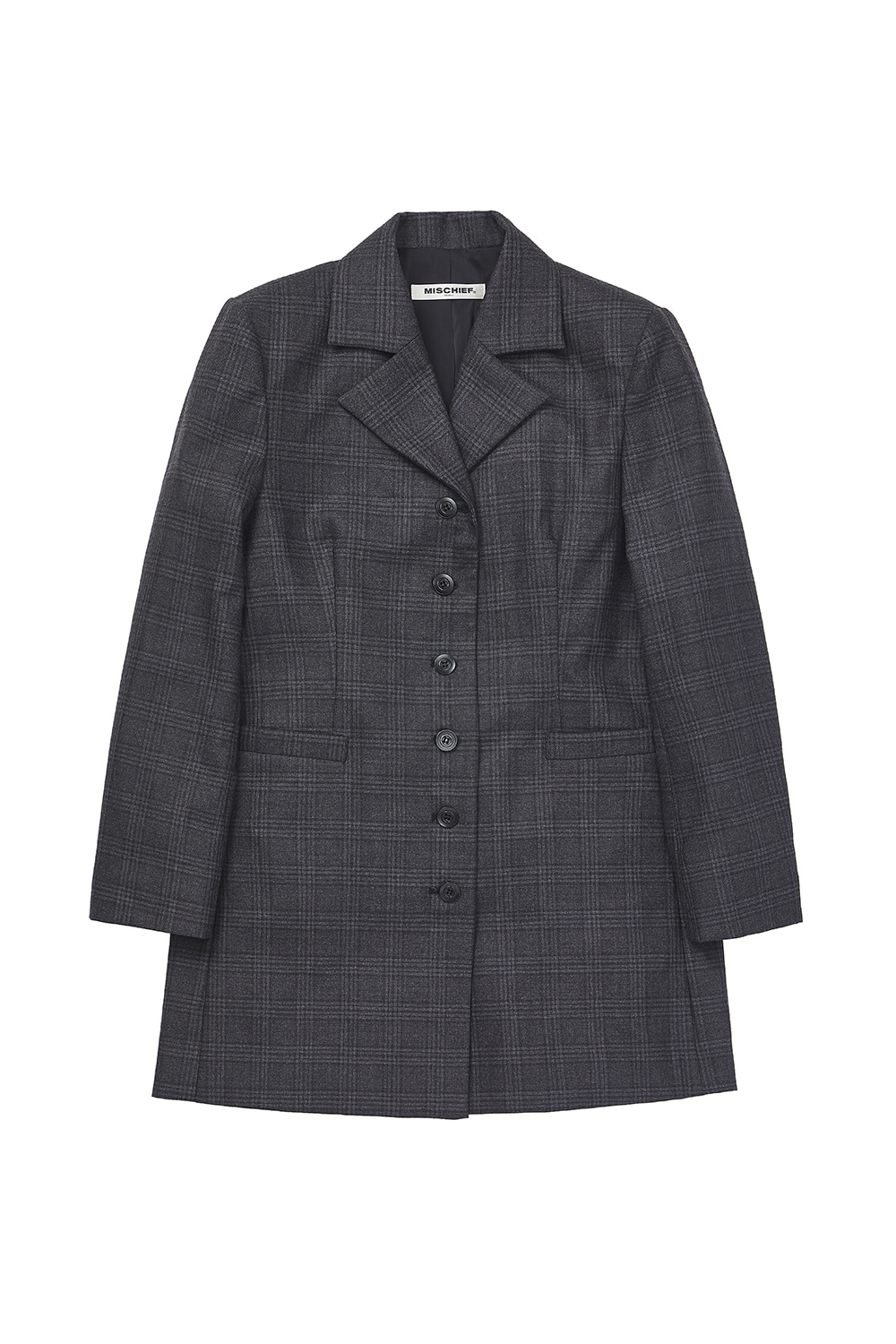 LONG SUIT JACKET_tartan black/gray