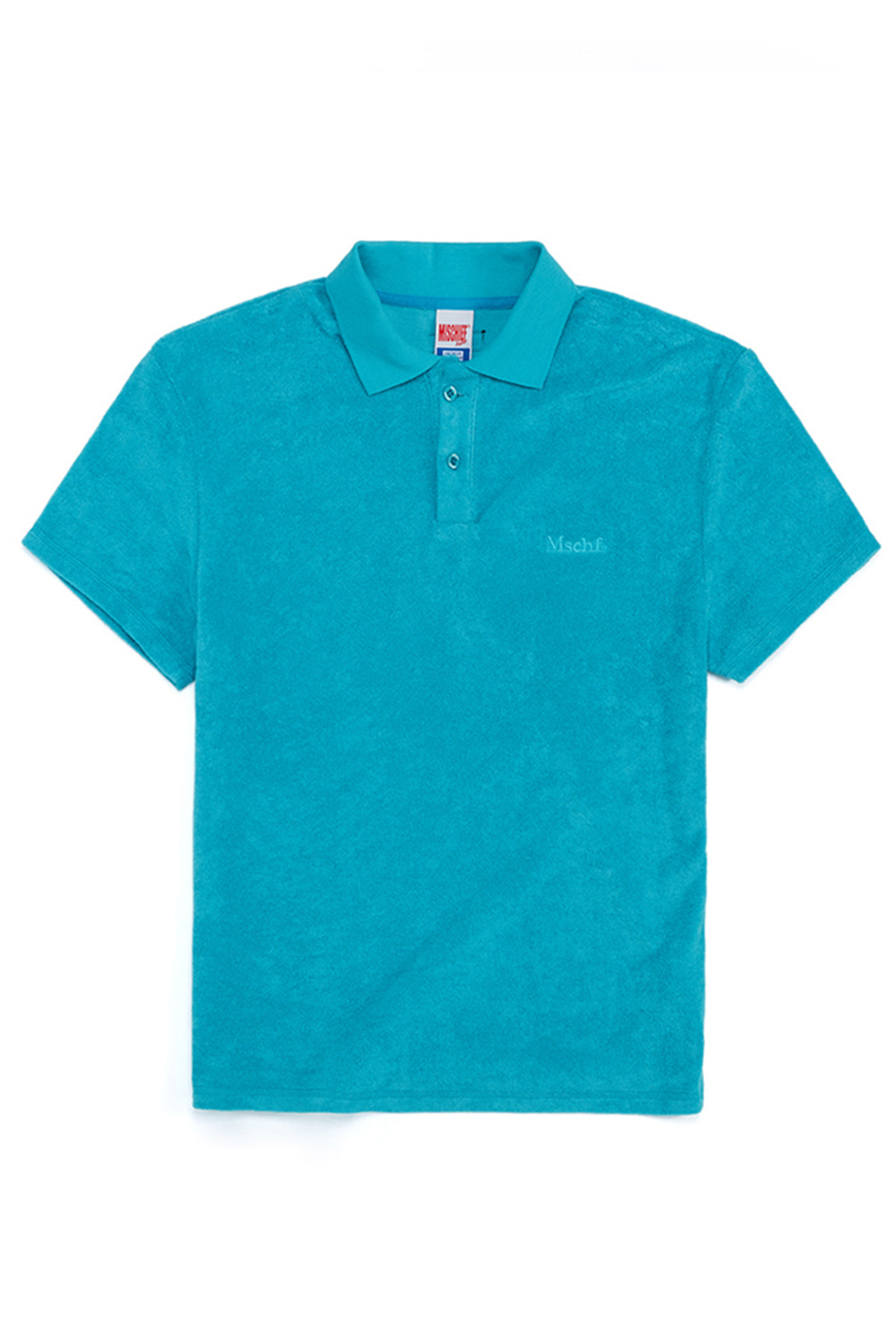 TERRY POLO_aqua blue