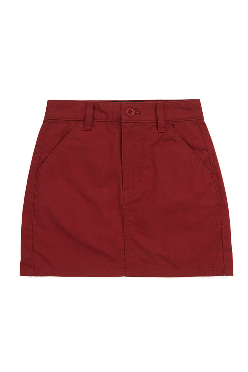 CHINO MINI SKIRT_crimson red