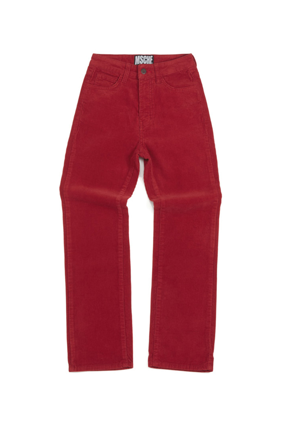 CORDUROY STRAIGHT PANTS_red
