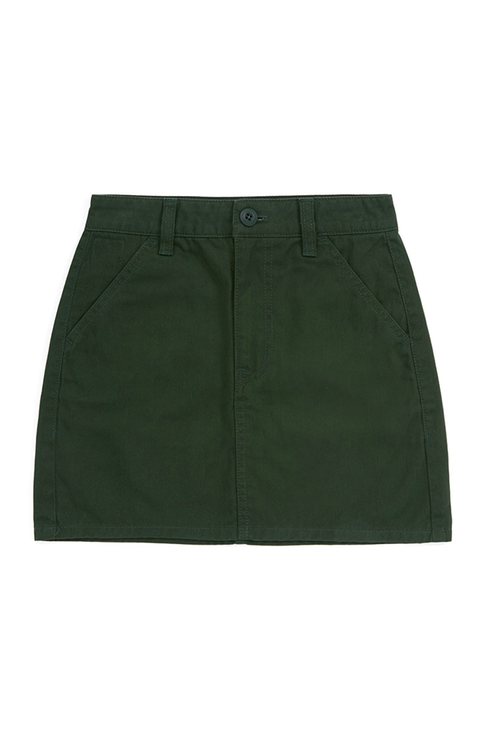 CHINO MINI SKIRT_forest green