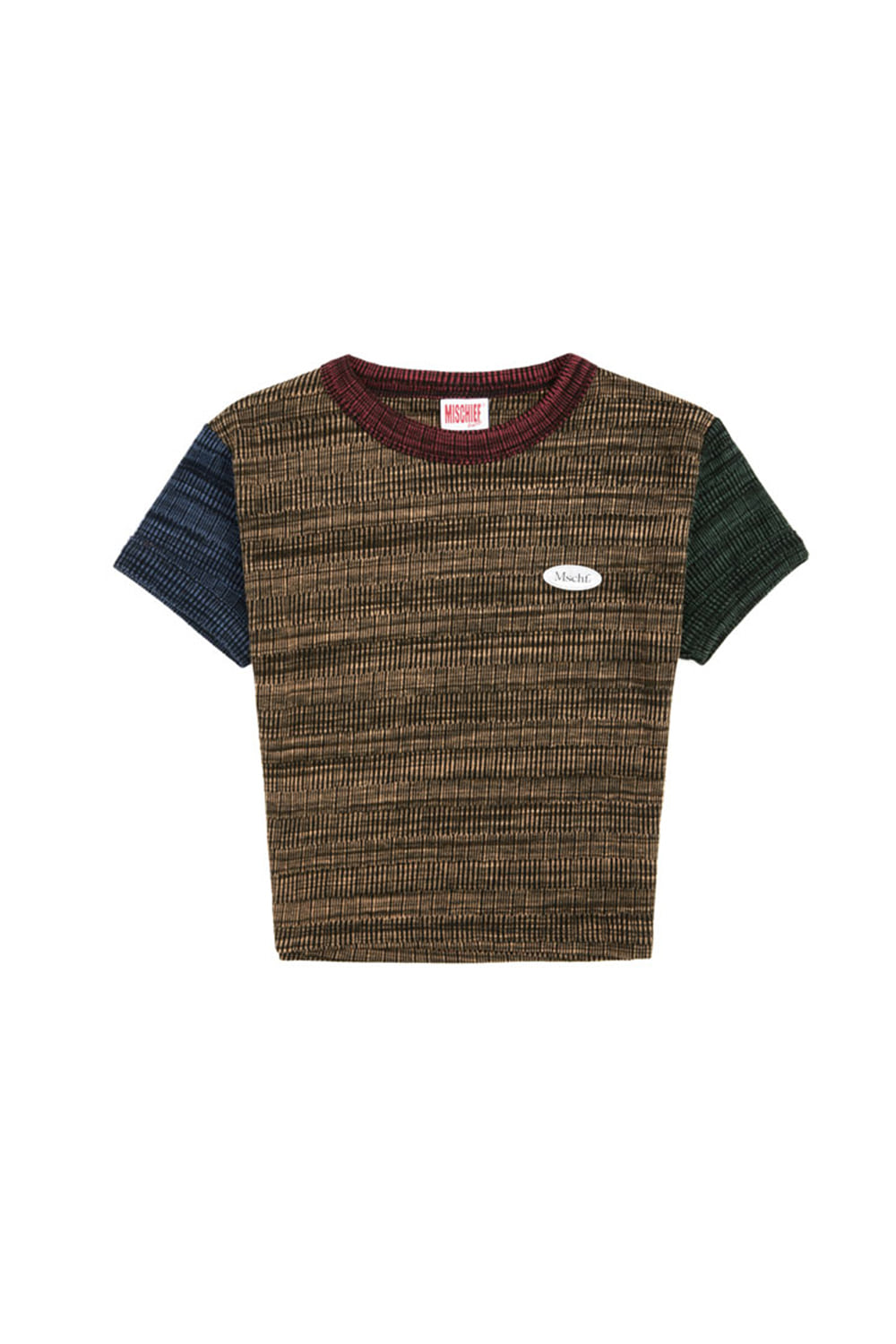 SPACE DYED COLOR BLOCK TOP_space dyed multi