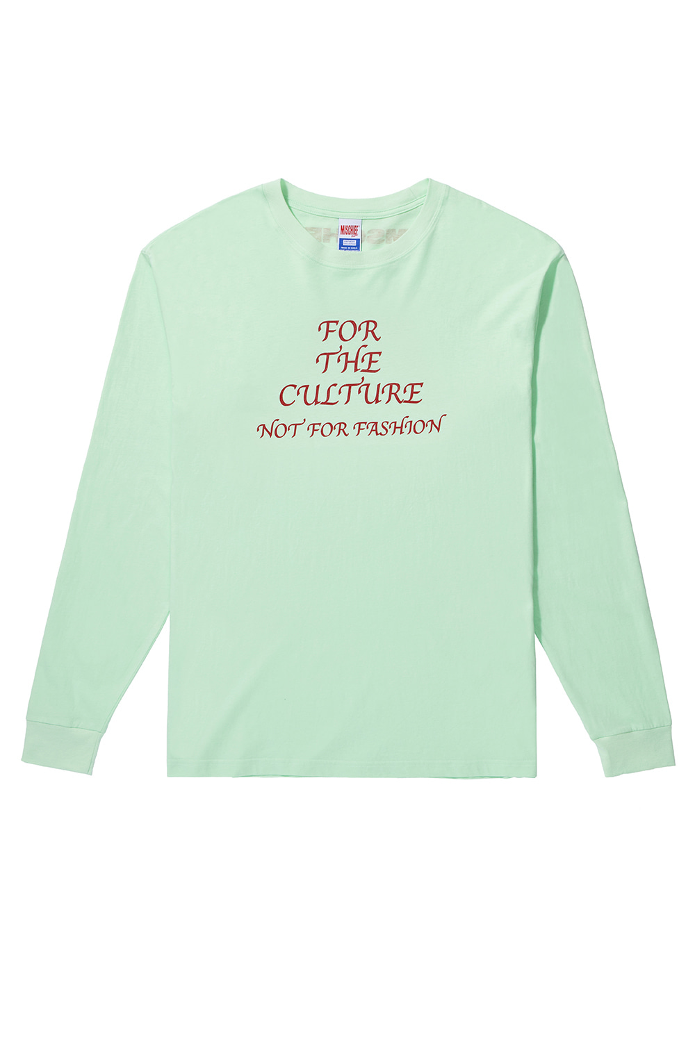 FOR THE CULTURE LONG SLEEVE_pale green