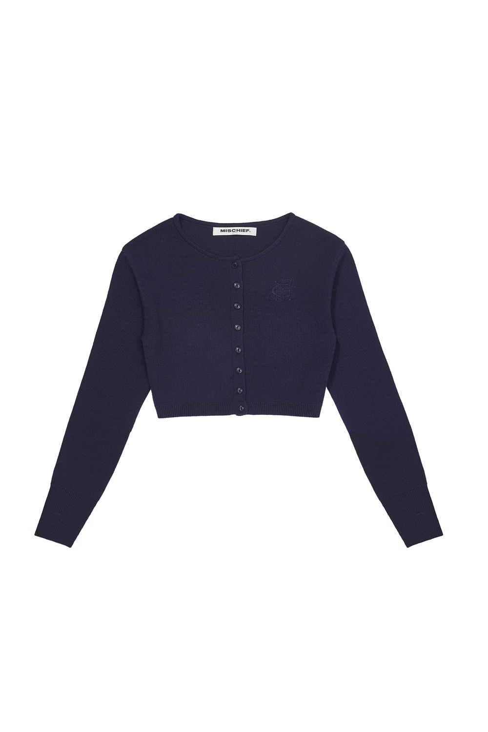 CROPPED CARDIGAN_navy