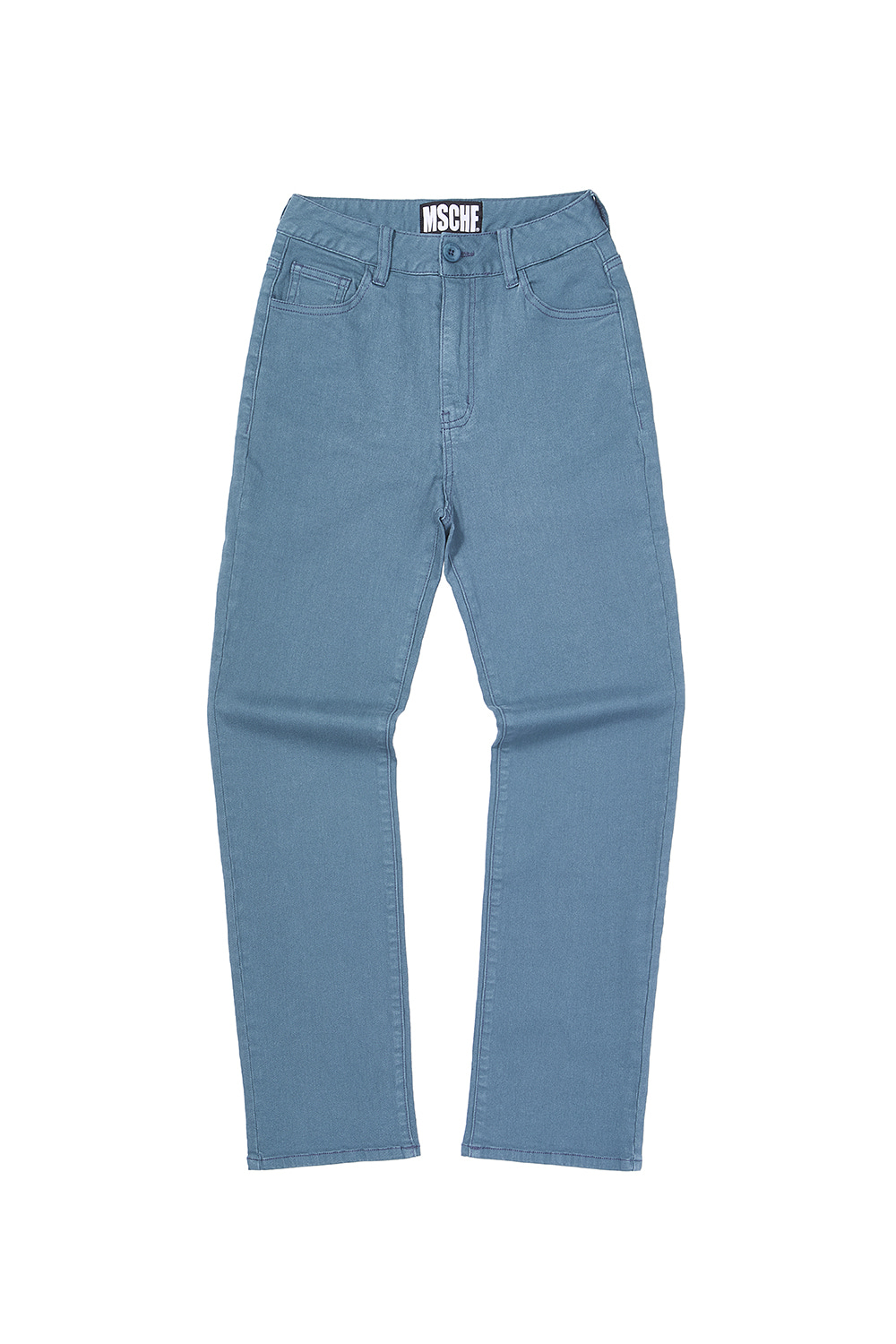 STRAIGHT PANTS_steel blue