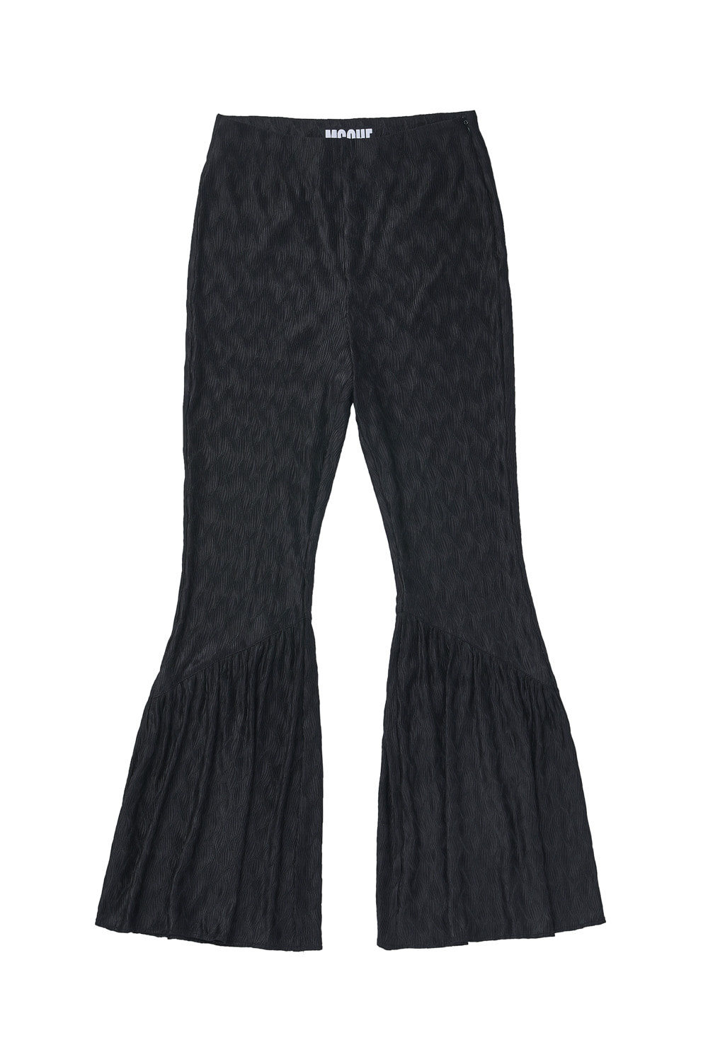 PLEATED BOOTCUT PANTS_black