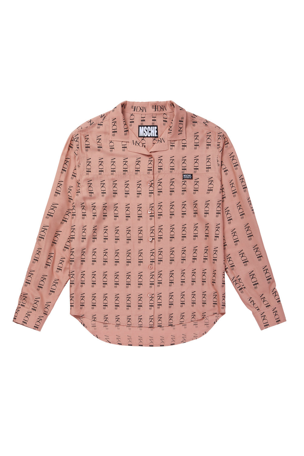 MSCHF REPEAT LOGO SHIRT_peach