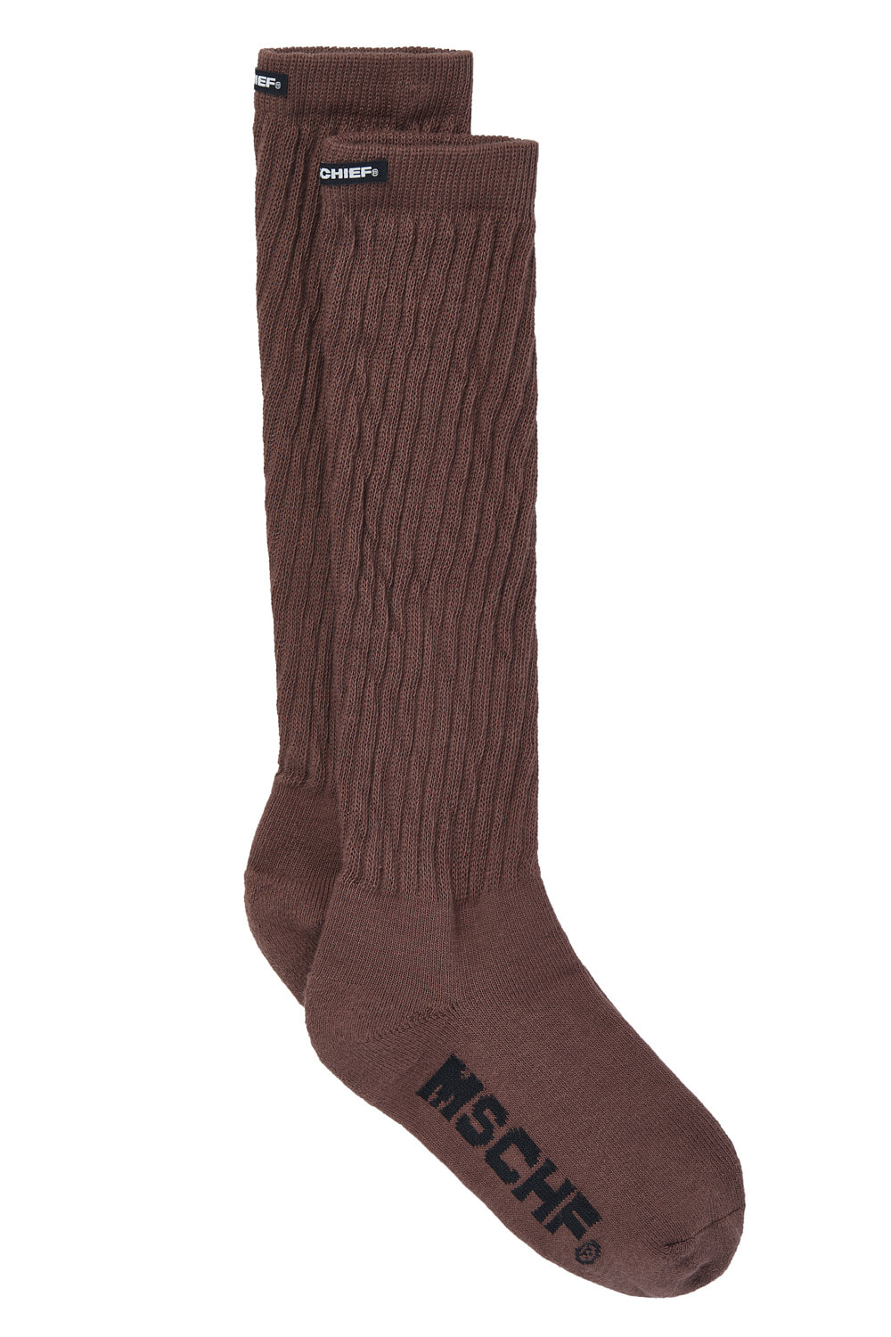 LONG MIDDLE TUBE SOCKS_brown