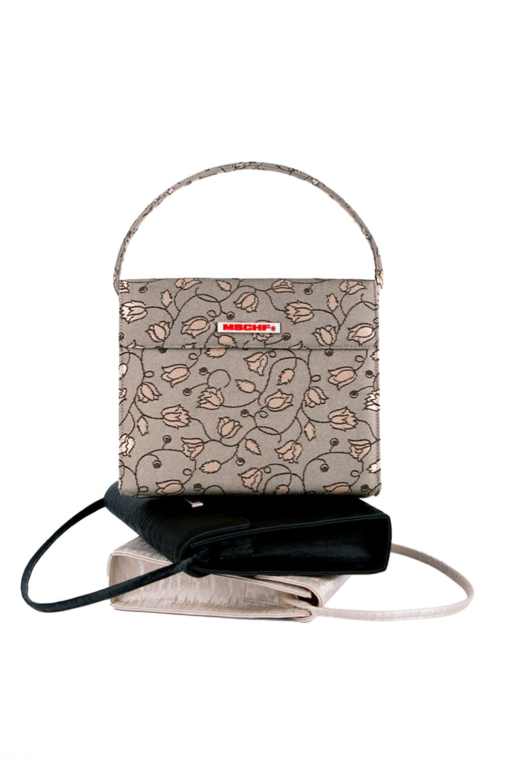 EVENING BAG_jacquard floral cappuccino